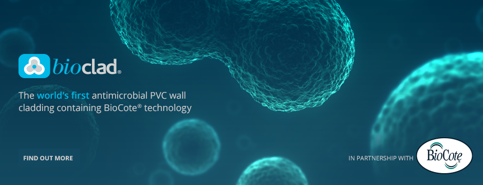 BioClad - The world's first antimicrobial PVC wall cladding containing BioCote technology